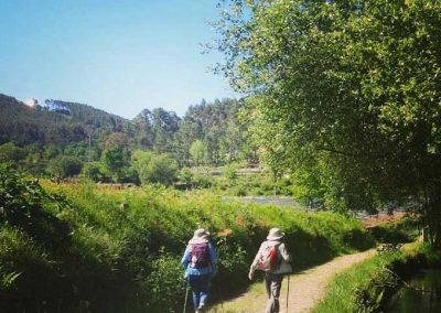 Prensa-2---2-peregrinos-de-Fresco-Tours-disfrutando-los-campos-de-Galicia-en-el-Camino-de-Santiago