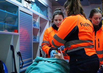 Prácticas en el Centro de Simulación Clínica de FUDEN correspondientes al Experto en Urgencias Extrahospitalarias, impartido por FUDEN y la UCAV