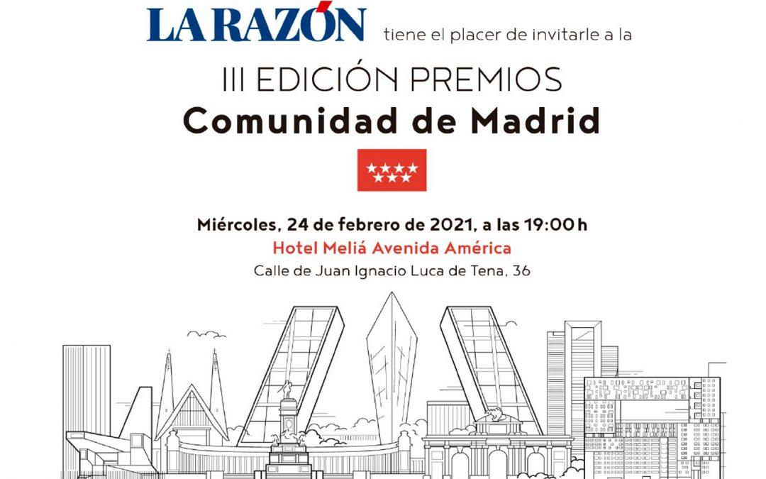III Edición Premios Comunidad de Madrid